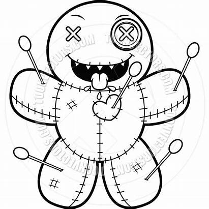 Doll Creepy Coloring Pages Cartoon Adults Voodoo
