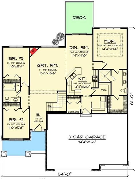 open concept ranch floor plans plan 89988ah 3 bed craftsman ranch with open concept floor plan craftsman design and chang e 3