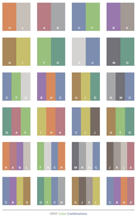 Gray Tone Color Schemes, Color Combinations, Color