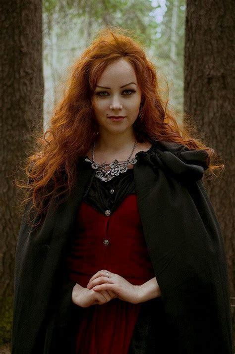 Beautiful Redheaded Witch Beautiful Long Hair Honey