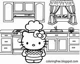 Kitty Hello Coloring Sheets Printable Cooking Oven Teenage Pie Apple Printables Drawing Simple Totally Tasty Backing Pretty Cartoons Disney Cartoon sketch template