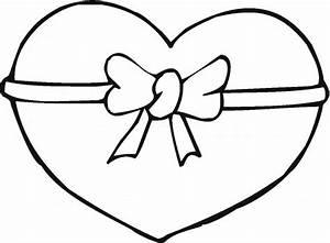 Ribbon Heart Valentine Coloring Pages | Valentine Coloring ...