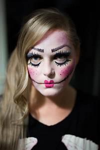 Gruselige Hexe Schminken : halloween horror doll makeup ~ Frokenaadalensverden.com Haus und Dekorationen
