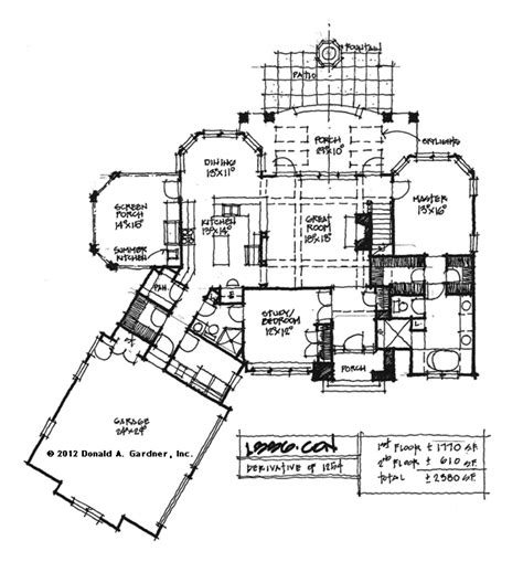conceptual design wwwdongardnercom craftsman plan added floor wit