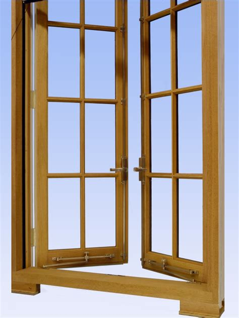 custom wood outswing casement window  concealed roll  screen surface mounted cremone