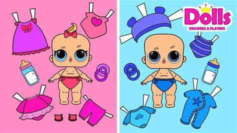 baby lol paper dolls clothes dollhouse baby stoller