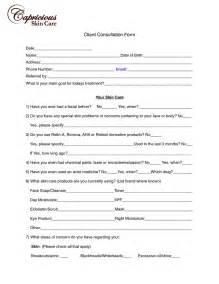 Facial Client Consultation Form
