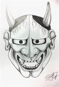 Japanese Demon Mask Drawings
