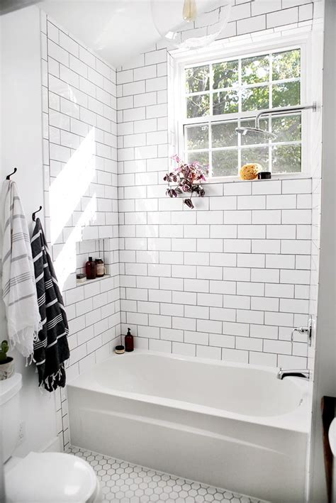 white subway tile bathroom ideas  pinterest