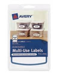 home organization labels avery removable multiuse labels