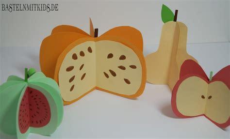 birne apfel melone oder kuerbis basteln basteln mit