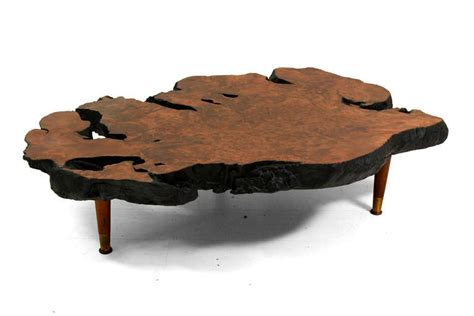 free form wood coffee tables free form solid burl wood coffee table at 1stdibs