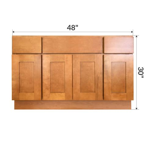 bathroom base cabinet lesscare newport 48 quot bathroom maple vanity sink base