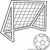 Coloring Ball Soccer Sports Pages Activity Goals sketch template
