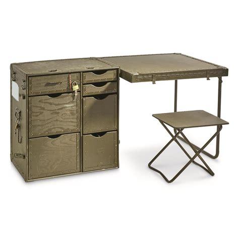 Surplus Desk u s surplus wooden field desk 3 used