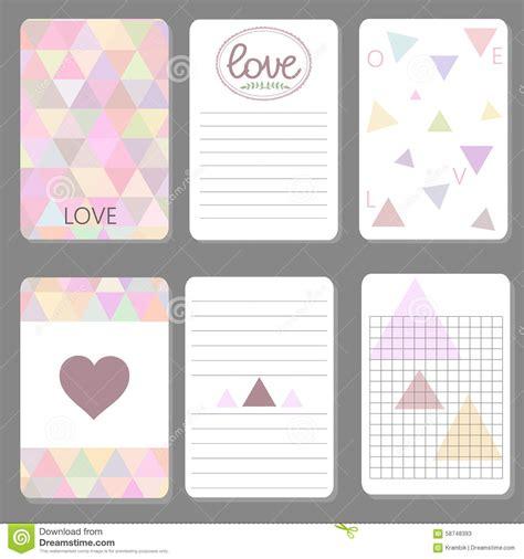 printable cute design cards triangle stock vector
