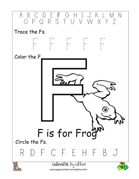 Letter F Worksheets For Toddlers  Letter F Worksheets Kindergarten Beginning Sound Of The