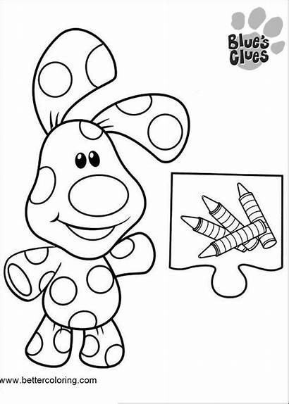 Clues Coloring Pages Outline Printable Blues Adults