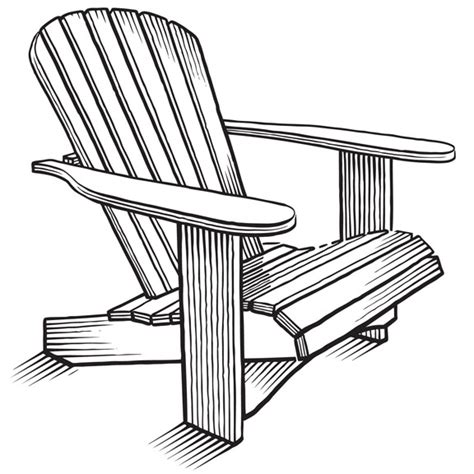 draw adirondack chair  woodworking