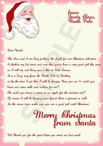 Letter from santa template cyberuse for Generic letter from santa