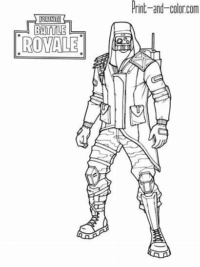 Fortnite Coloring Royale Battle Skin Skins Archetype