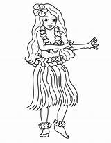 Hula Coloring Hawaiian Pages Dance Hawaii Dancer Learn Printable Drawing Dancing Tourist Luau Boy Party Traditional Beach Outline Netart Surfer sketch template