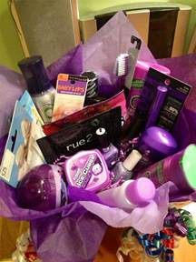 favorite color themed gift basket for my best friends birthday that i made throw together a