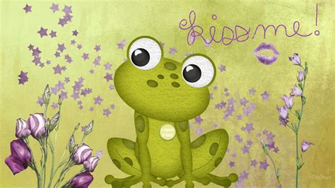 Free Animated Frog Wallpaper - hd frog wallpaper frog green kisses