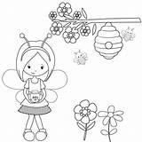 Coloring Beehive Bee Bumblebee Bees sketch template