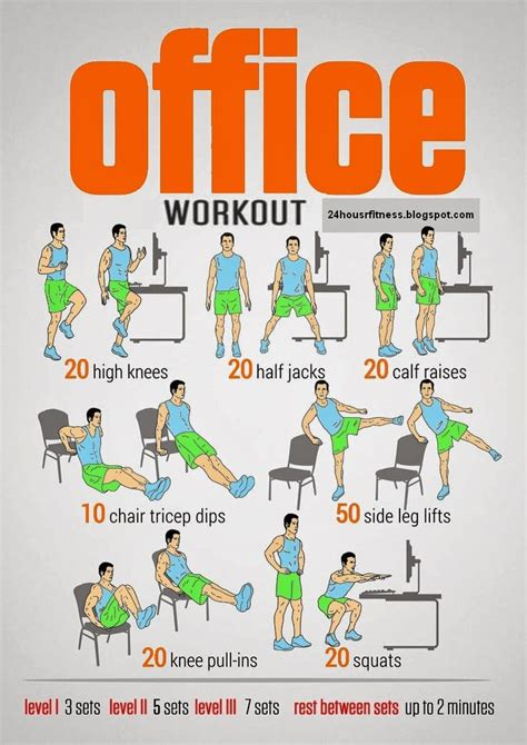Office Desk Exercises by Office Workout 24 Hour Fitness Workout At Work Office
