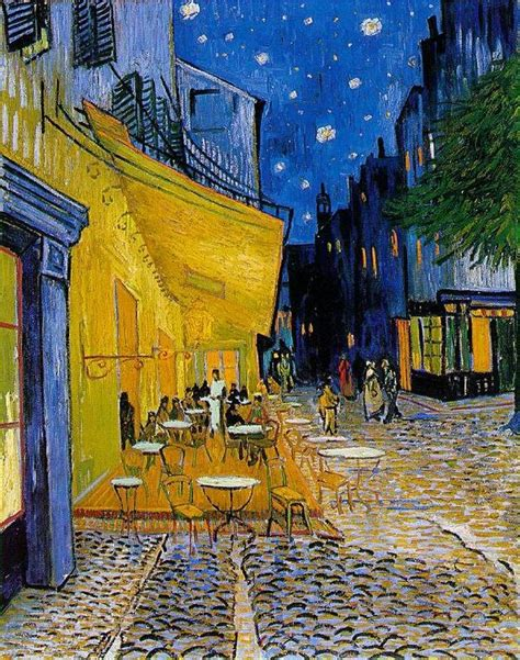 cafe terrace at starry artble