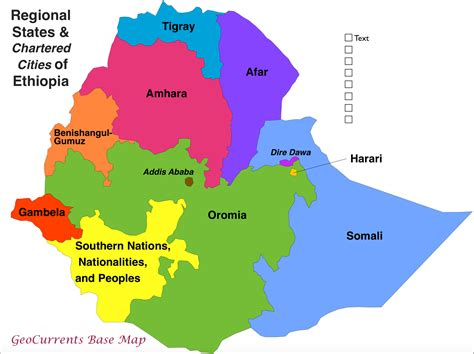 ethiopia states map