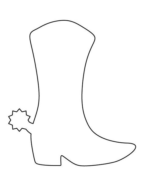 cowboy boot template cowboy boot pattern use the printable outline for crafts creating stencils scrapbooking and