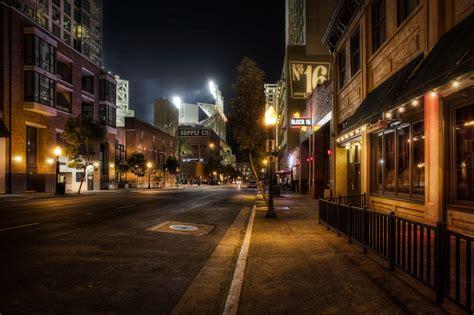 night city street wallpaper high quality resolution