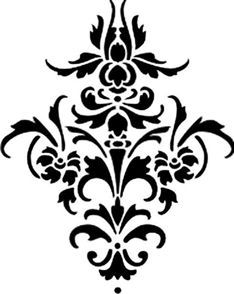 vinyl damask flourish decal filigrees damask stencil