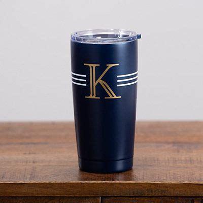 navy  gold monogram  tumbler   monogram cups