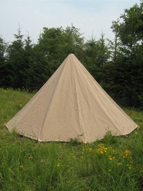 Low conical Tent   linen » Linen tents » Medieval On line