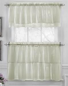 Gypsy kitchen curtains cream lorraine country for Kitchen curtins