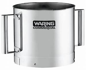 Waring Commercial Fp40ssb Stainless Steel Batch Bowl With