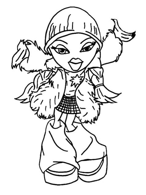 Kleurplaat Bratz by Bratz Dolls Coloring Pages Free Printable Bratz Dolls