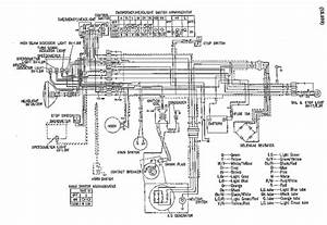 Wiring Diagram Of Honda Sl 100 Motorcycle  60249