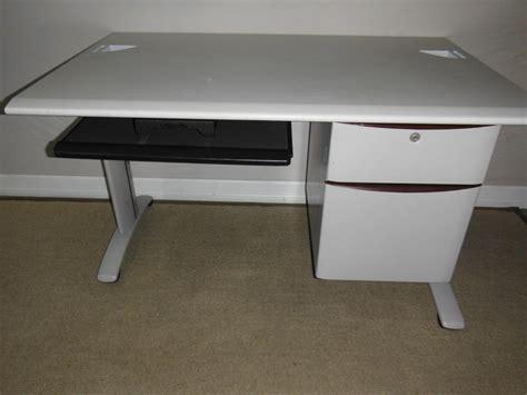 used l shaped computer desk l shaped steelcase corner computer desk delivered