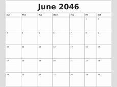 June 2046 Free Calender