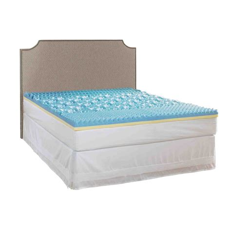 king mattress pad rest rite 3 in california king gel mattress pad