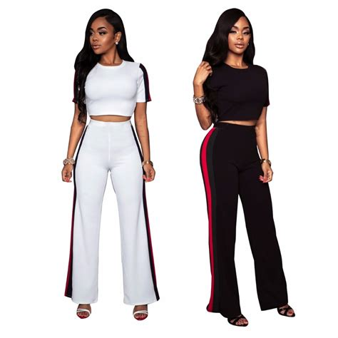 2018 summer fashion clothes plus size two set crop top cropped tops fashion