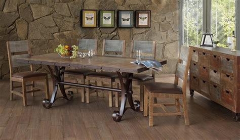 ifd furniture  antique rustic dining room set