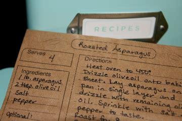 brown paper bag recipe cards