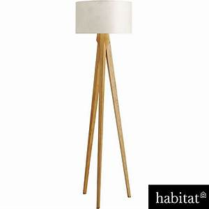 Kitty tripod wood floor lamp at homebase be inspired for Kitty wooden floor lamp