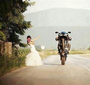 runaway bride motorcycle wedding wedding dress bride With motorcycle wedding dress
