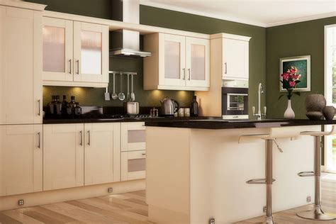 Green Kitchen Walls, Olive Green Kitchen Walls With Yellow